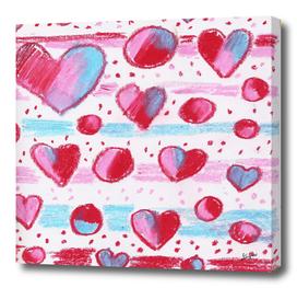 heart oil pastel