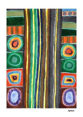 Symmetrical Bordered Stripes