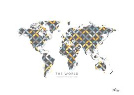 Worldmap Retro Circles