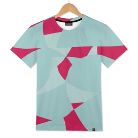 Dusty Pale Blue and Vibrant Magenta Abstract Graphic