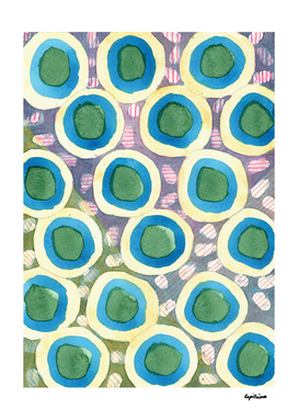 Four Directions beneath Circles Pattern