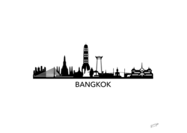 Bangkok Skyline art