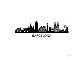 Barcelona Skyline art