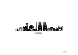 Minsk Skyline Art