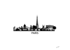 Paris Skyline Art
