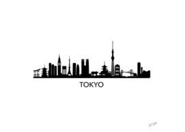 Tokyo Skyline Art