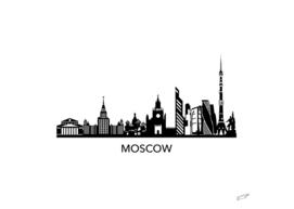 Moscow Skyline Art