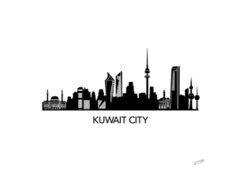 Kuwait City Skyline Art