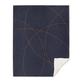 Navy & Rust Abstract I