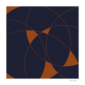 Navy & Rust Abstract II
