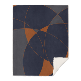 Navy & Rust Abstract III