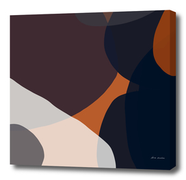 Navy & Rust Abstract V