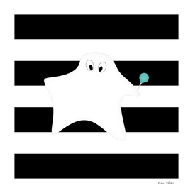 Ghost - strips - black and white.