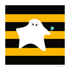 Ghost - strips - black and orange.