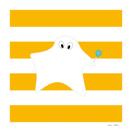 Ghost - strips - orange and white.