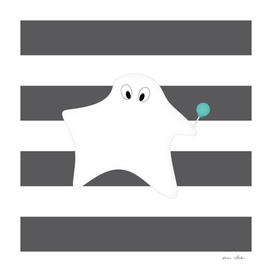 Ghost - strips - gray and white.