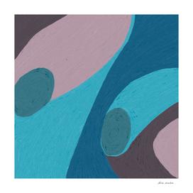 Mauve & Blue Soft Pastel