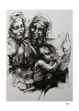 Santa Ana la Virgen y el niño
