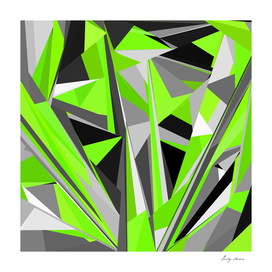 Grey-light-green geometry