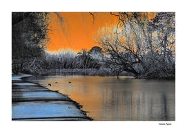 Lake Wendouree Winter Sunset