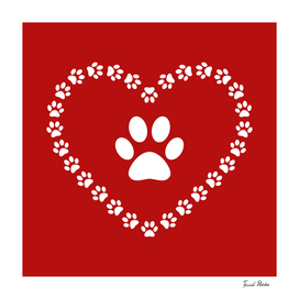 Paw - heart