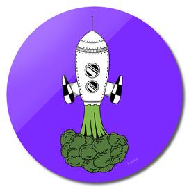 Smoked broccoli