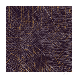 Purple and Gold Abstract Graphic II