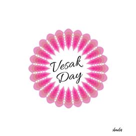Vesak day card with pink lotus