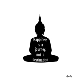 Silhouette of Buddha with inspirational quote