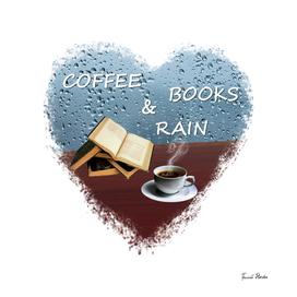 Coffee books and rain