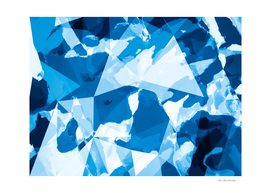 geometric triangle shape abstract in blue