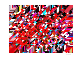 geometric pixel pattern abstract in red blue pink