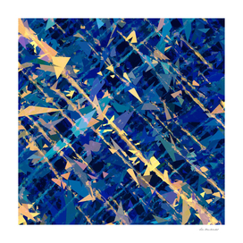 splash geometric abstract in blue and yellow