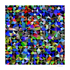 geometric triangle pattern abstract in blue green red