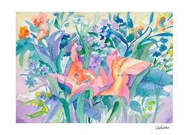 Flowering watercolor