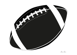 Rugby ball illustration, American football ball,