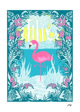 The Pink Flamingo No.1 - Blue Edition