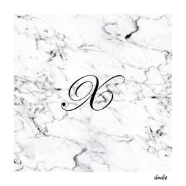 Letter X on Marble texture Initial personalized monogram