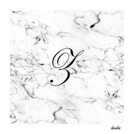 Letter Z on Marble texture Initial personalized monogram