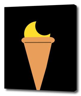 Ice cream moon