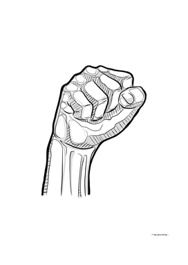 Digital illustration of a human fist