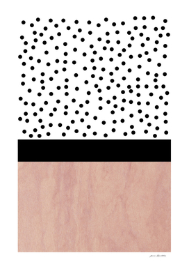Pink marble and dots