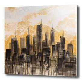Sunsent Clouds on a Metropolis Skyline