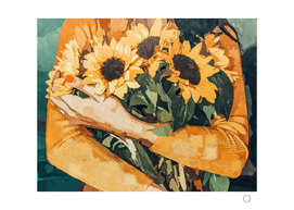 Holding Sunflowers