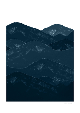 Navy Blue Mountains #1 #decor #art