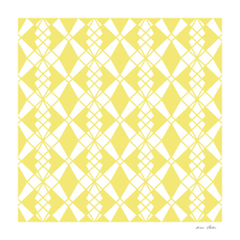 Abstract geometric pattern - gold and white.