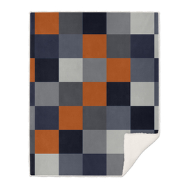 Navy & Rust Squares
