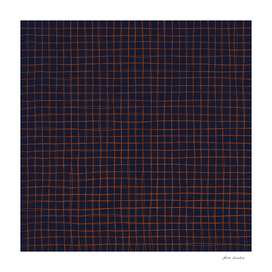 Navy and Rust Thread Pattern