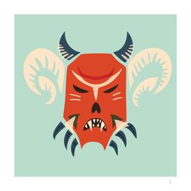 Evil Horned Demon Mask