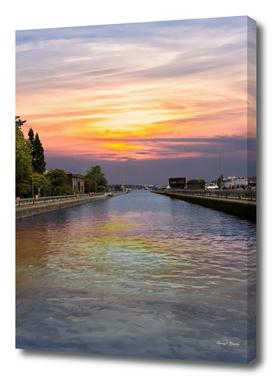 Ballard Locks at Sunrise